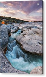 Rushing Waters At Pedernales Falls State Park - Texas Hill Country Acrylic Print