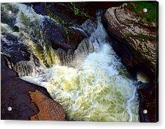Rushing Waters Acrylic Print by Billie Steer