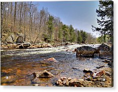 Acrylic Print featuring the photograph Rushing Waters Of The Moose River by David Patterson