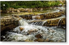 Rushing Waters - Upper Provo River Acrylic Print by TL Mair