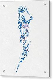 Russell Westbrook Oklahoma City Thunder Pixel Art Acrylic Print