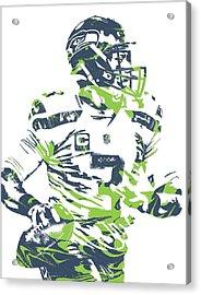 Russell Wilson Seattle Seahawks Pixel Art 10 Acrylic Print