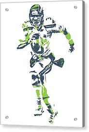 Russell Wilson Seattle Seahawks Pixel Art 14 Acrylic Print
