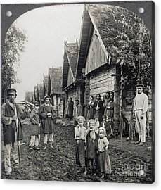 Russia: Peasants Acrylic Print by Granger