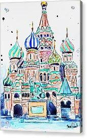 Russia, St. Basil Acrylic Print by Shaina Stinard