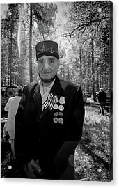 Acrylic Print featuring the photograph Russian Afghanistan War Veteran by John Williams