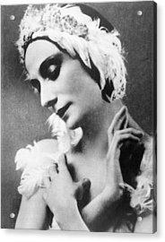 Russian Ballet Dancer Anna Pavlova Acrylic Print by Everett