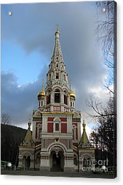 Russian Church At Shipka Acrylic Print by Iglika Milcheva-Godfrey