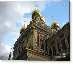 Russian Church Domes Acrylic Print by Iglika Milcheva-Godfrey