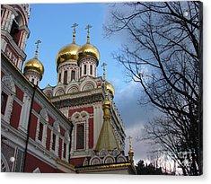 Russian Church Acrylic Print by Iglika Milcheva-Godfrey