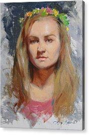 Russian Girl Acrylic Print by Anna Rose Bain