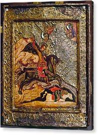 Russian Icon: Demetrius Acrylic Print by Granger