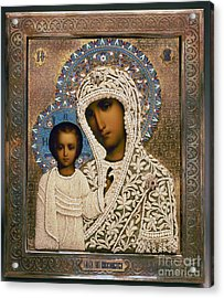 Russian Icon: Mary Acrylic Print by Granger