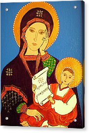 Russian Icon Acrylic Print by Stephanie Moore