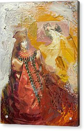 Acrylic Print featuring the painting Russian Memories N1 by Alla Parsons