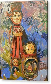 Acrylic Print featuring the painting Russian Memories N2 by Alla Parsons