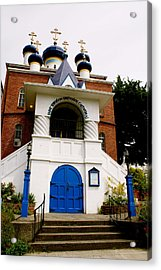 Russian Orthodox Church Acrylic Print by Sonja Anderson