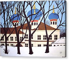Acrylic Print featuring the painting Russian Orthodox Church by Stephanie Moore