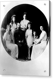 Russian Royal Family Left To Right Acrylic Print by Everett