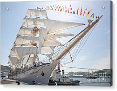Acrylic Print featuring the photograph Russian Sailing Ship by Aiolos Greek Collections