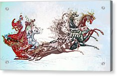 Russian Symbols Of New Year Acrylic Print