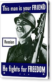 Russian - This Man Is Your Friend Acrylic Print by War Is Hell Store