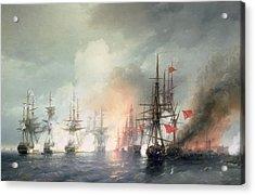 Russian Turkish Sea Battle Of Sinop Acrylic Print by Ivan Konstantinovich Aivazovsky