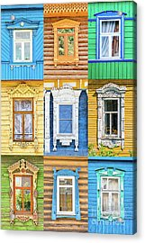 Acrylic Print featuring the photograph Russian Windows by Delphimages Photo Creations