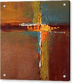 Rust Abstract Painting Acrylic Print by Nancy Merkle