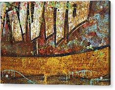 Rust Colors Acrylic Print by Carlos Caetano