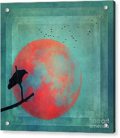 Rust Moon Acrylic Print
