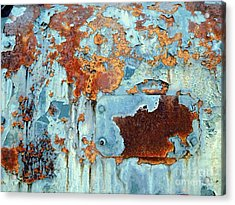 Rust - My Rusted World - Train - Abstract Acrylic Print by Janine Riley
