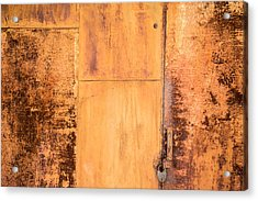 Acrylic Print featuring the photograph Rust On Metal Texture by John Williams