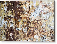 Acrylic Print featuring the photograph Rust Paper Texture by John Williams