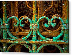 Rusted Gates Acrylic Print by Craig Perry-Ollila