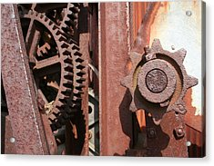 Acrylic Print featuring the photograph Rusted Gears by Dylan Punke