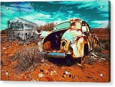Rusted Acrylic Print by Leah Devora
