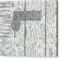 Rusted Lock And Latch Acrylic Print by Ed Einboden
