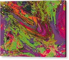 Rusted Metal  1 Acrylic Print by Teo Santa