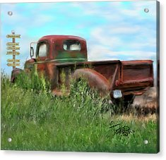 Rusted Not Retired Acrylic Print