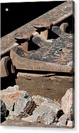 Rusted Rail Acrylic Print by Colleen Coccia