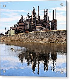 Rusted Relection Acrylic Print