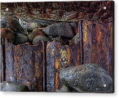 Rusted Stones 3 Acrylic Print by Steve Siri