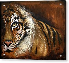 Rusted Tiger Acrylic Print by Holly Whiting