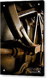 Rusted Wheel Acrylic Print