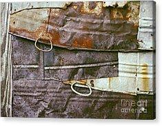 rustic abstract photograph - Sheet Metal Wall Acrylic Print