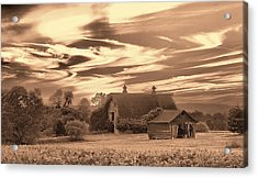 Rustic Barn 2 Acrylic Print by Mark Fuller