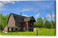 Acrylic Print featuring the photograph Rustic Barn In The Catskills by Paula Porterfield-Izzo