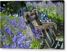 Rustic Bench Acrylic Print