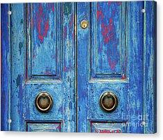 Rustic Blue Doors Acrylic Print by Tim Gainey